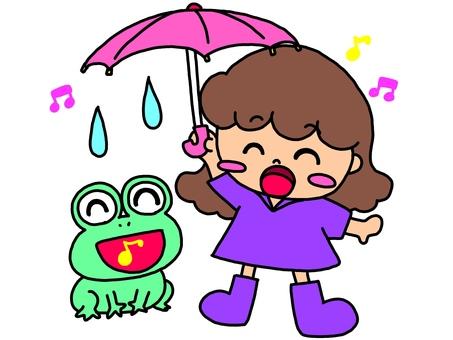 It is fun to rain ♪