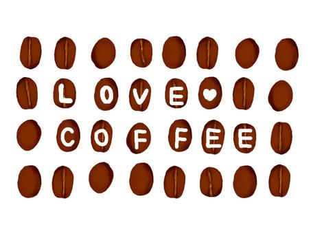 Coffee bean message