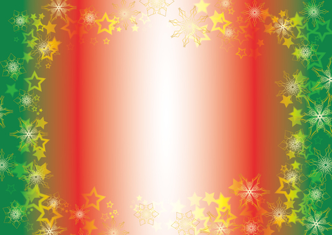 Snow crystal and star background (Christmas)