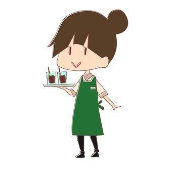 Cafe clerk 3