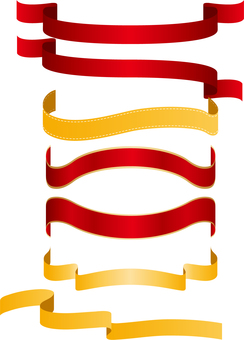 Ribbon banner set