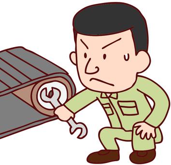 Illustration of men who repair machines