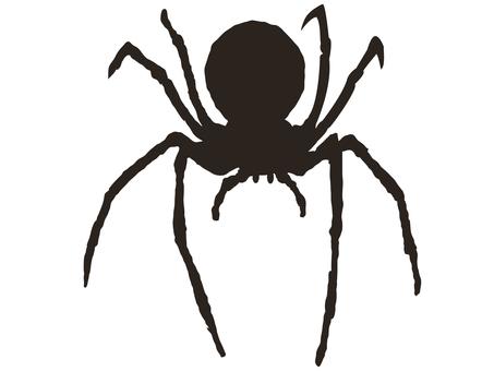 컷 실루엣 거미