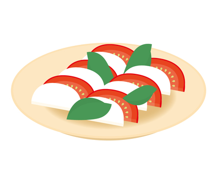 Side dishes tomato cheese