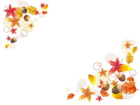 Fallen leaves and acorns 1