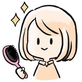 Hair set girl