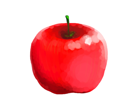 Oil painting style apple