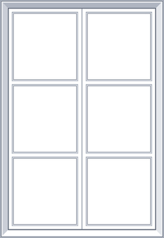 Western style crate window frame white