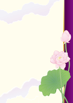 Lotus flower _ Paper vertical plate _ purple
