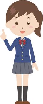 Girls | High School Students | Uniform | Fingering