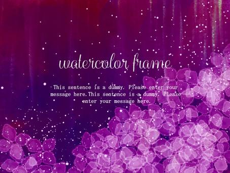 Hydrangea frame 05 / purple