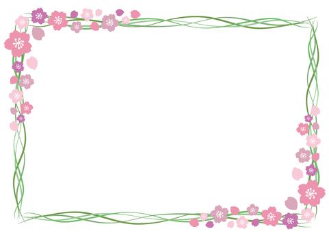 Cherry blossom frame 6