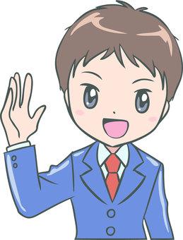 Raise hand (boy)