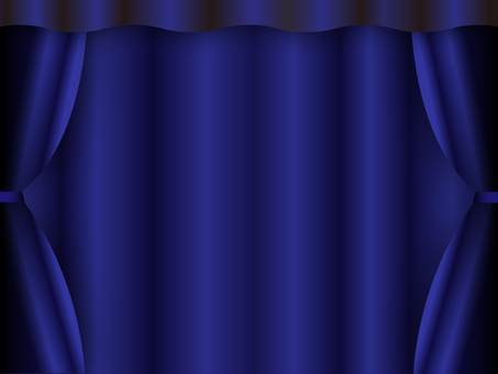 Navy curtain on stage