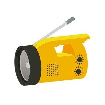 Flashlight with radio