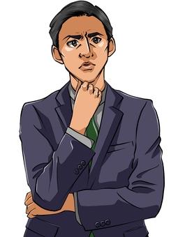 Dissatisfied businessman