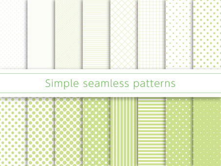 Simple pattern swatch green