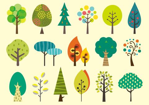 北歐風格的樹