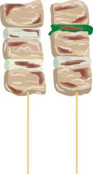Food Series Yakitori Sauce Pork Meat