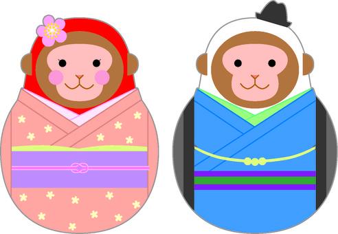 Fashionable monkey dharma 1