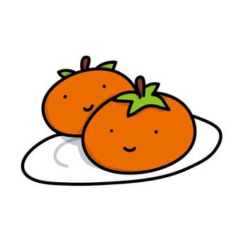 Autumn fruit · persimmon