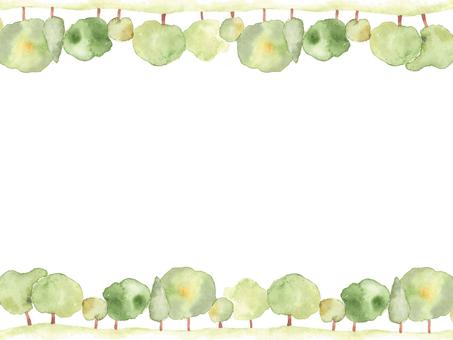 花枠372-若みどりの並木の花枠