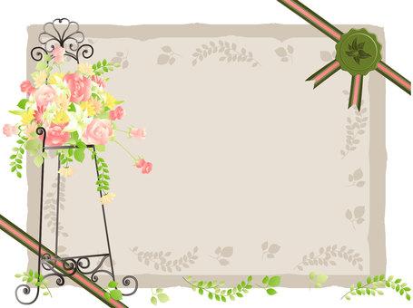 Easel Flower Frame 2