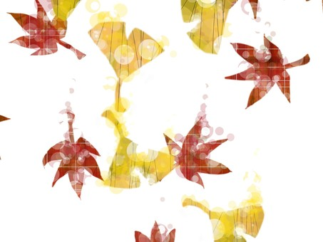 Gingko and autumn leaves