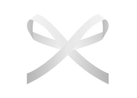 Simple thin ribbon (white)