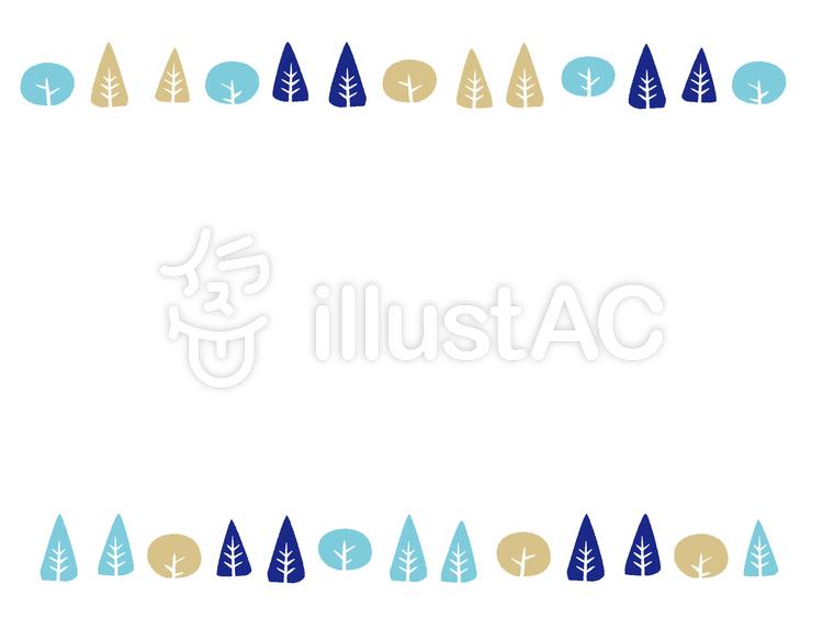木 冬 フレームイラスト No 278394無料イラストならイラストac