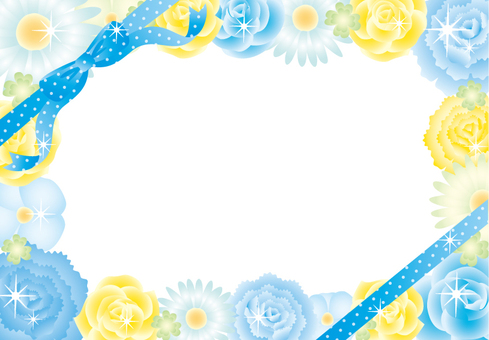 Flower assembly frame ribbon (solid blue)