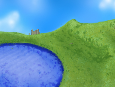 Illusion Background 08: Castles on the lakeside
