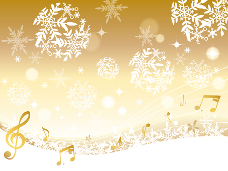 Snow crystal _ winter background _ new six notes