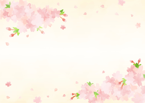 Hand-painted cherry background 5