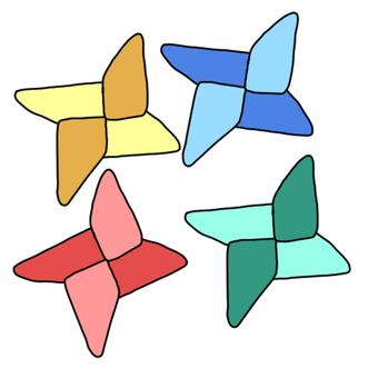 다채로운 종이 접기 수리검