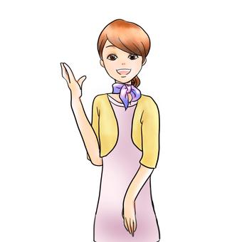 Salon receptionist woman