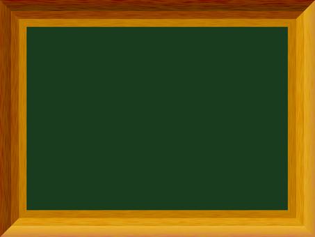 Blackboard wood frame