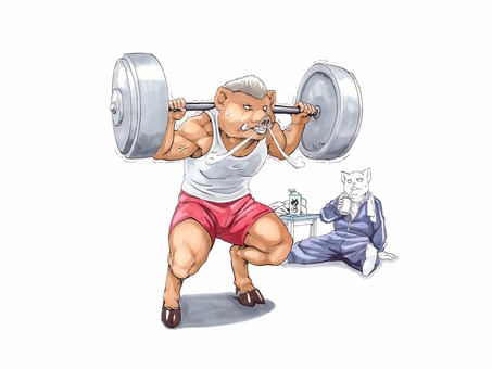 肌肉訓練野豬