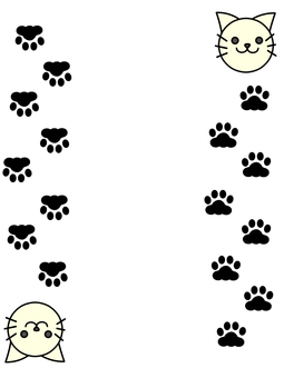 Cat vertical writing simple frame