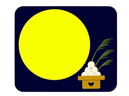 보름달과 달맞이 경단