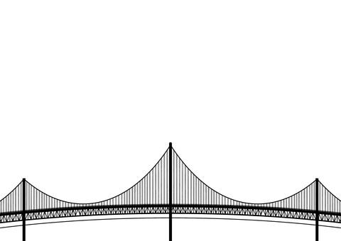 Suspension Bridge Silhouette
