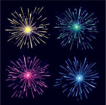 Glitter fireworks 2