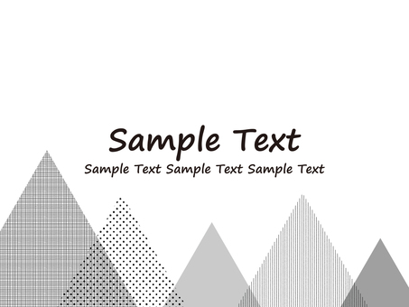 Mountain motif background material · monotone