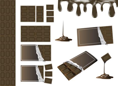 Chocolate board chocolate