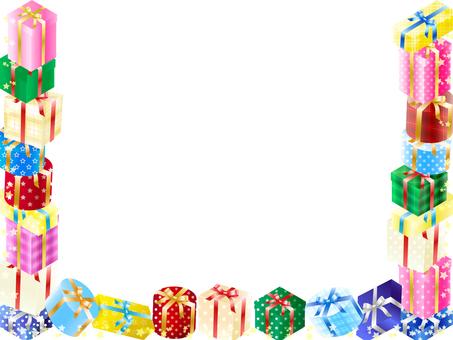 Gift box frame / background / wallpaper 2