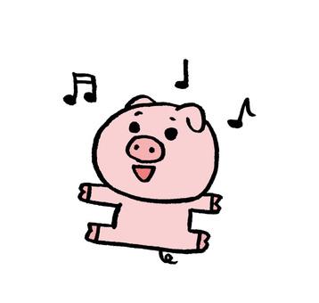 돼지 산책