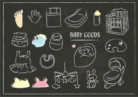 Child-care baby baby goods blackboard