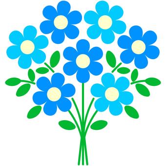 꽃다발 (블루)
