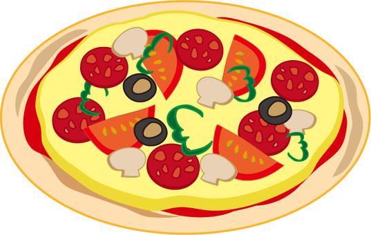 Mixed pizza hall