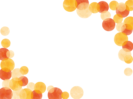 Watercolor polka dot frame
